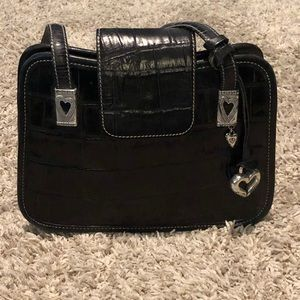 Black Brighton leather purse
